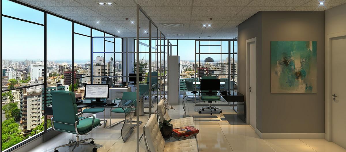Business Park empreendimento localizado no Central Parque composto por 256 salas, mais sala de reunião, auditório, espaço relax.