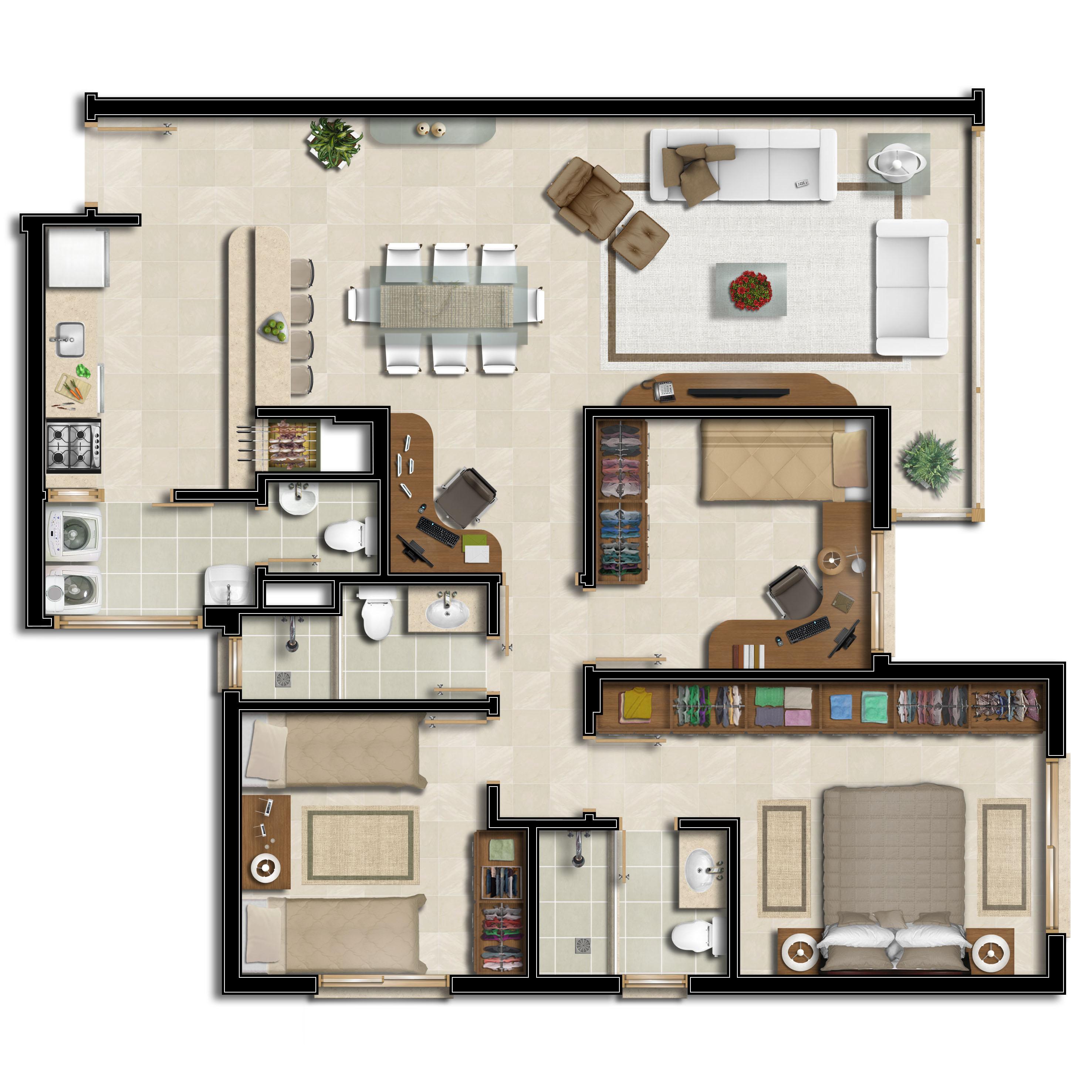 Residencial com apartamentos de 3 dormitórios/ Suíte casal, 103,15m privativos, 2 ou 3 vagas,  com e sem depósito, Infraestrutura de lazer.