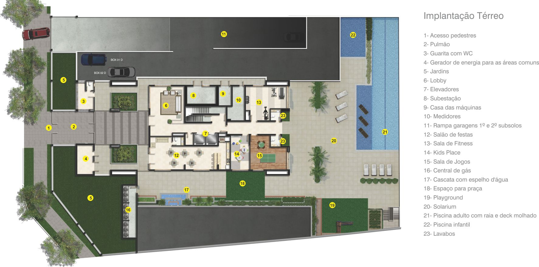 Localizado no bairro Santana com fachada em revestimentos texturizados; Lobby de 42,47m; 2 elevadores; Apartamento zelador; Lavanderia condominial; Copa e banhos para diaristas; Gerador de energia para as áreas comuns;  Infraestrutura de lazer;  Segurança planejada com guarita e pulmão.