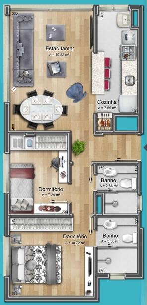 É simples morar bem. Localizado no Bairro Partenon, apartamentos de 1 e 2 dormitórios com 46,36m, 48,98m e 63,17m privativos, 1 e 2 vagas. Paredes em alvenaria, 2 elevadores, salão de festas, e banho e vestiário condominial.