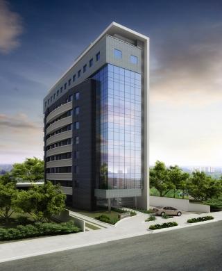 Edifício comercial com 59 conjuntos comerciais de 30m até 283m privativos, estacionamento rotativo para visitantes, vagas conforme a necessidade do cliente e centro de convenções. Localizado no bairro Moinhos de Vento.